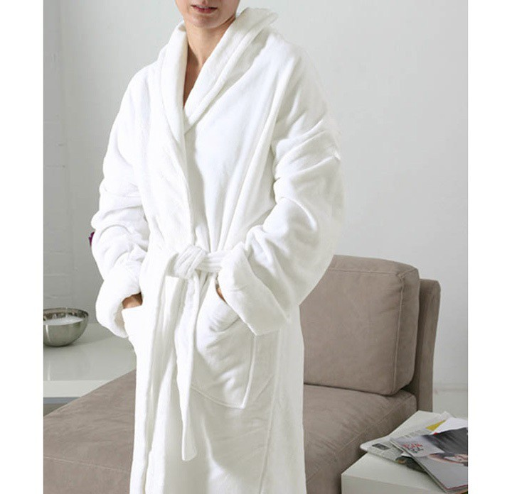 Bathrobe Velour King of Cotton® White  6a45f7b0c
