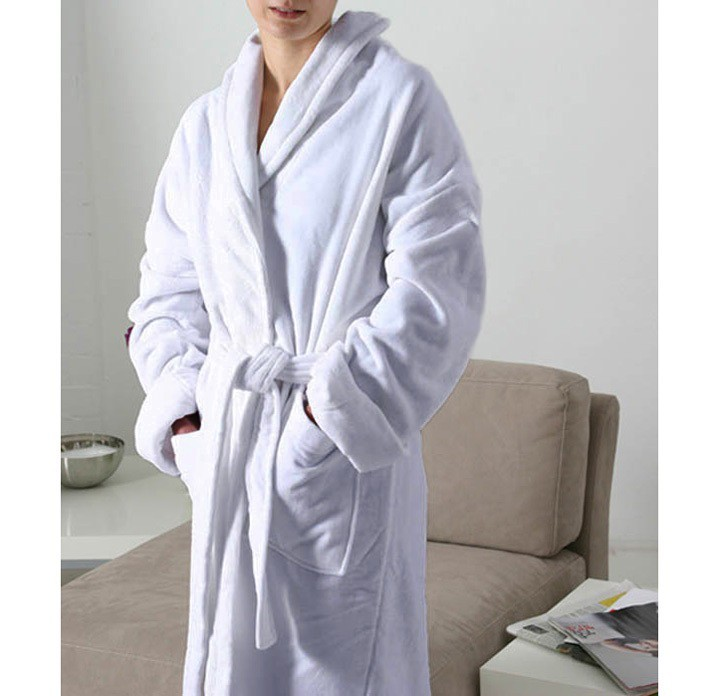 bathrobe zero twist cotton king of cotton white royal comfort s r o. Black Bedroom Furniture Sets. Home Design Ideas