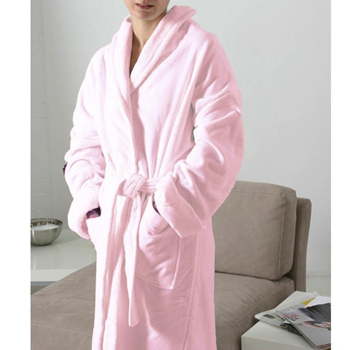 Župan Velour King of Cotton® Light Pink