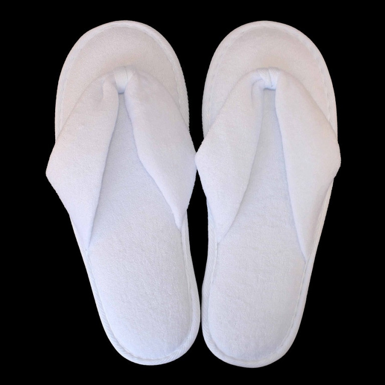 Bačkory Flip-Flop Open-Toe Style King of Cotton® bílá